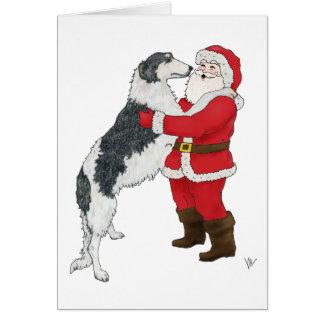 Borzoi Christmas Greeting Card