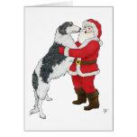 Borzoi Christmas Greeting Greeting Card