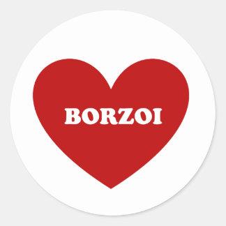 Borzoi Classic Round Sticker