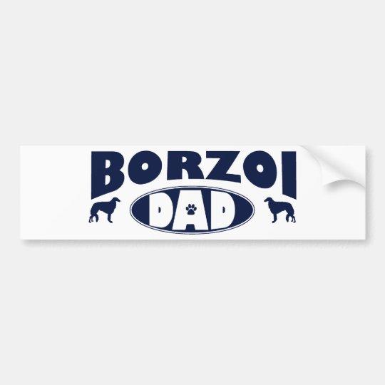 Borzoi Dad Bumper Sticker