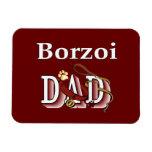 Borzoi Dad Rectangular Magnet