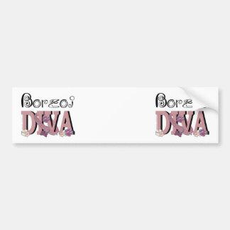 Borzoi DIVA Car Bumper Sticker