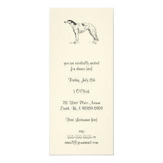 Borzoi Dog 4x9.25 Paper Invitation Card