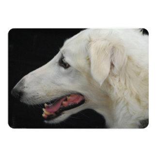 Borzoi Dog 5x7 Paper Invitation Card