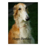 Borzoi dog beautiful photo happy birthday card