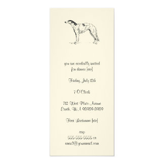 Borzoi Dog Card