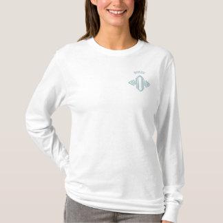 Borzoi Dog Mom Embroidered Long Sleeve T-Shirt