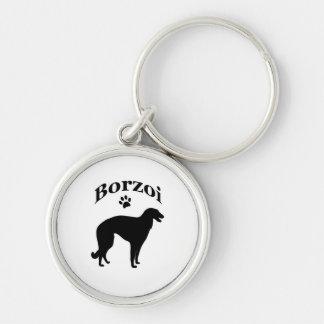 borzoi dog pawprint keychain, gift idea keychain