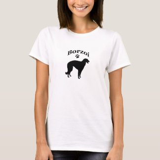 borzoi dog pawprint ladies t-shirt, gift idea T-Shirt