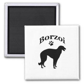 borzoi dog pawprint magnet, gift idea magnet
