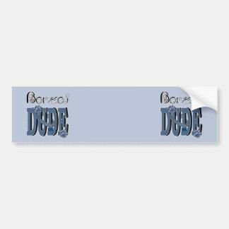 Borzoi DUDE Car Bumper Sticker