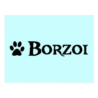 Borzoi estilo del pirata con el pawprint postal
