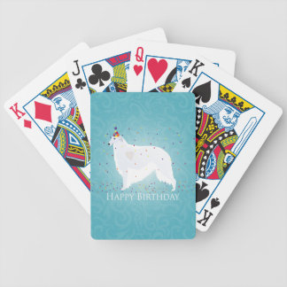 Borzoi Happy Birthday Design Bicycle Playing Cards