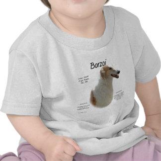 Borzoi History Design T Shirts