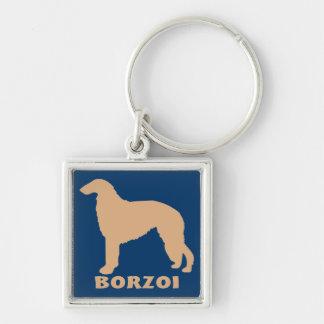 Borzoi Keychains