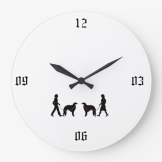BORZOI LARGE CLOCK
