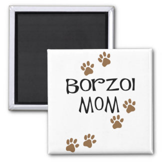 Borzoi Mom Magnet