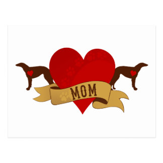 Borzoi Mom [Tattoo style] Postcard