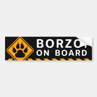 Borzoi On Board Car Bumper Sticker