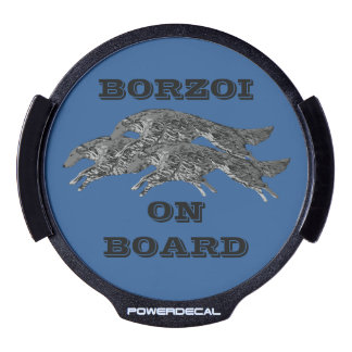 Borzoi On Board Light Up Car Decal