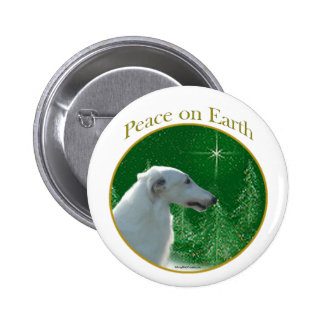 Borzoi Peace Button