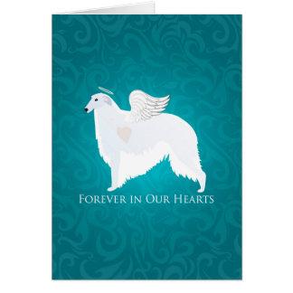 Borzoi Pet Loss Sympathy Design Card
