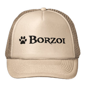 Borzoi (pirate style w/ pawprint) trucker hats