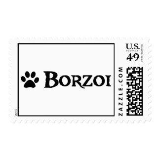 Borzoi (pirate style w/ pawprint) postage