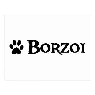 Borzoi (pirate style w/ pawprint) postcard