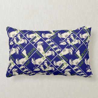 Borzoi Poster sea-bed Lumbar Pillow