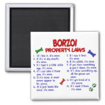 BORZOI Property Laws 2 Fridge Magnets