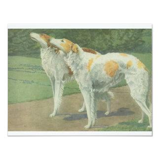 Borzoi (Russian Wolfhound) 4.25x5.5 Paper Invitation Card