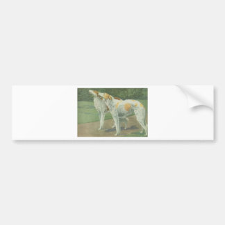 Borzoi (Russian Wolfhound) Car Bumper Sticker