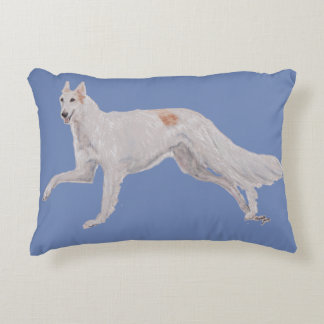 Borzoi Russian Wolfhound Dog Art Pillow