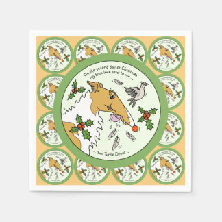 Borzoi Second Day of Christmas Paper Napkins