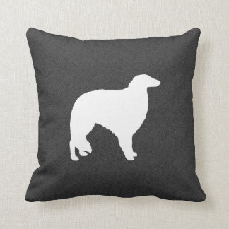 Borzoi Silhouette Throw Pillow