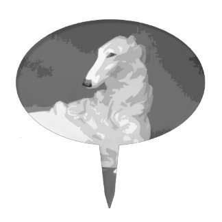 Borzoi Sophisticate Cake Toppers