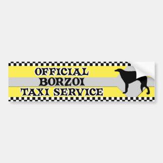 Borzoi Taxi Service Bumper Sticker Car Bumper Sticker