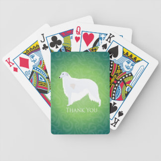 Borzoi Thank You Design Bicycle Playing Cards