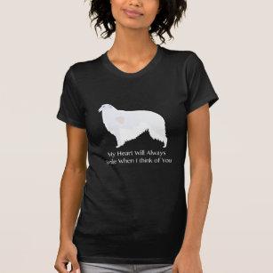 Borzoi Thinking of You Design T-Shirt