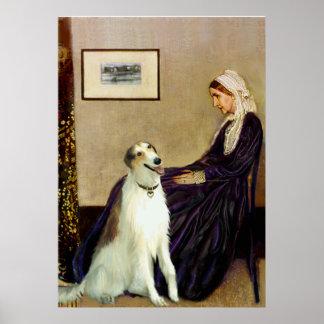 Borzoi - Whistlers Mother Print