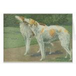 Borzoi (Wolfhound ruso) Tarjetón