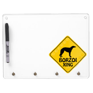 Borzoi Xing Dry Erase Board With Keychain Holder