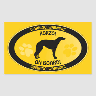 Borzoi Xing Rectangular Sticker