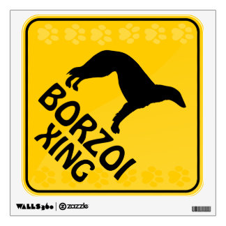 Borzoi Xing Wall Sticker