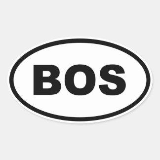BOS de Boston Pegatina Ovalada