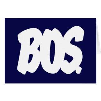 BOS Letters Stationery Note Card