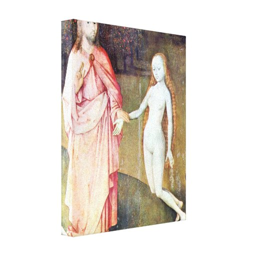 Bosch - el jardín de placeres - la creación, lienzo envuelto para galerias