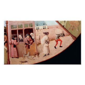 Bosch-Table w/scenes of the seven deadly sins Print