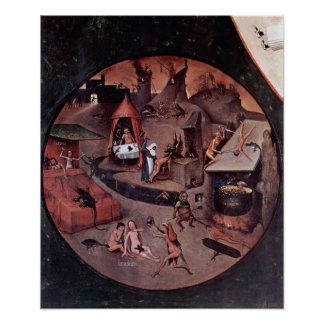 Bosch-Table w/ scenes of the seven deadly sins Posters